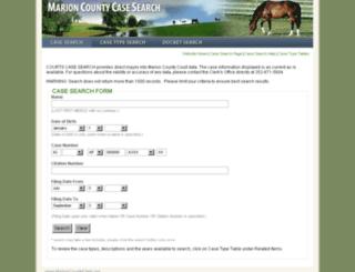 casesearch.marioncountyclerk.org screenshot