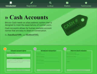 cashaccount.info screenshot