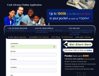 cashadvanceonlineapplication.com screenshot