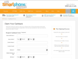 cashback.smartphonecompany.co.uk screenshot