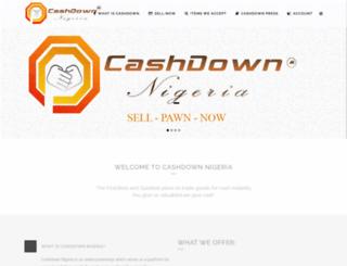 cashdown.com.ng screenshot