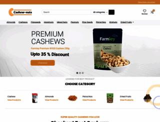 cashew-nuts.in screenshot