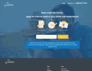 cashfirst.com.au screenshot