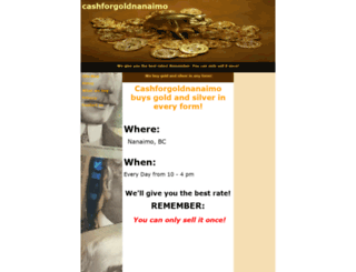 cashforgoldnanaimo.com screenshot