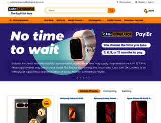cashgenerator.co.uk screenshot