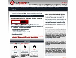 cashheatingoil.com screenshot