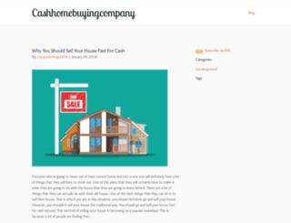 cashhomebuyingcompany.zohosites.com screenshot