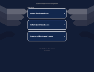 cashlendersdirectory.com screenshot