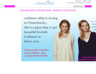 cashmereaffair.co.nz screenshot
