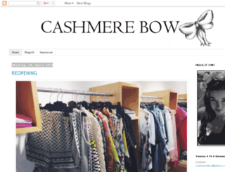 cashmerebow.com screenshot