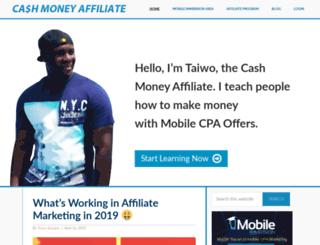 cashmoneyaffiliate.com screenshot