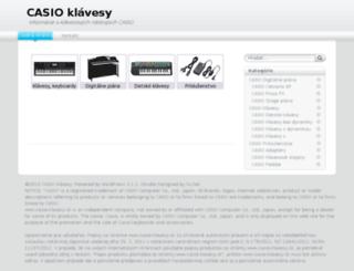 casio-klavesy.sk screenshot
