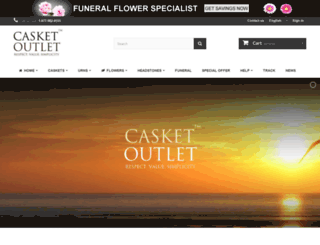 casketoutlet.ca screenshot