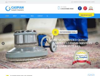 caspiancarpetcleaners.com screenshot