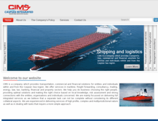 caspianmaritime.com screenshot