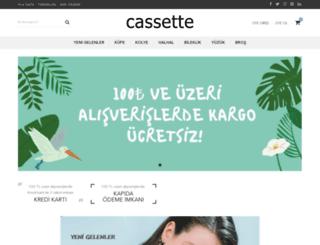 cassette.com.tr screenshot