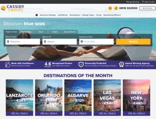 cassidytravel.com screenshot