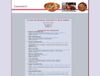cassoulet.fr screenshot