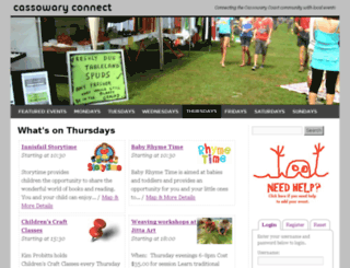 cassowaryconnect.com screenshot
