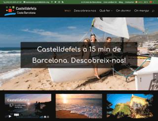 castelldefelsturisme.com screenshot