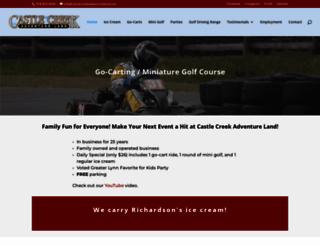 castlecreekadventureland.com screenshot