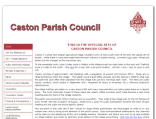 castonparishcouncil.co.uk screenshot