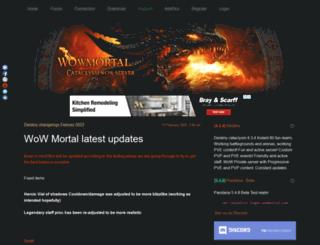 cata.wowmortal.com screenshot