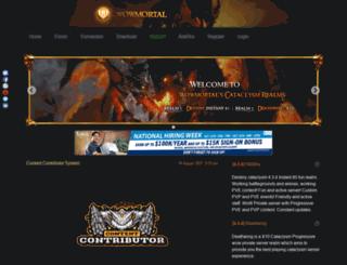 cataclysm.wowmortal.com screenshot