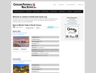 catalinafoothillsrealestate.org screenshot