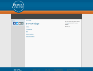 catalog.berea.edu screenshot