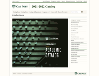 catalog.calpoly.edu screenshot