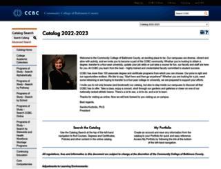 catalog.ccbcmd.edu screenshot