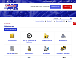 catalog.compressedairsystems.com screenshot