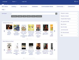 catalog.dallaslibrary.org screenshot