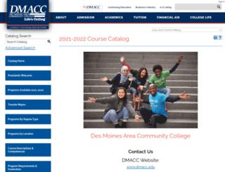 catalog.dmacc.edu screenshot