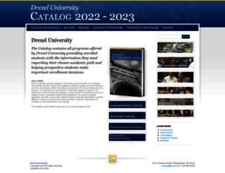 catalog.drexel.edu screenshot