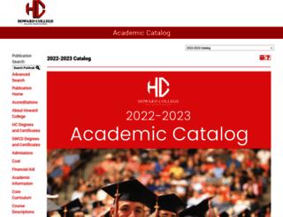 catalog.howardcollege.edu screenshot