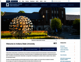 catalog.indstate.edu screenshot