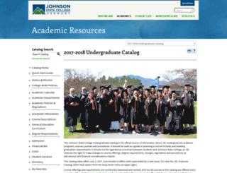catalog.jsc.edu screenshot