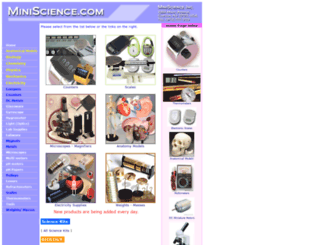 catalog.miniscience.com screenshot