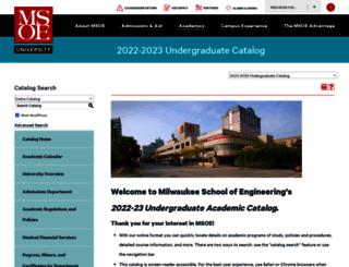 catalog.msoe.edu screenshot