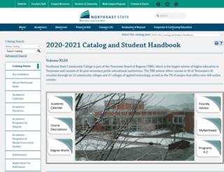 catalog.northeaststate.edu screenshot