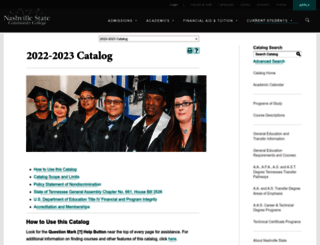 catalog.nscc.edu screenshot