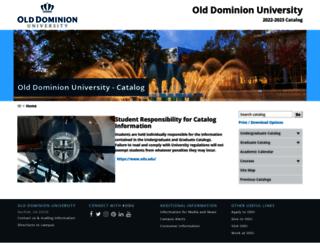 catalog.odu.edu screenshot