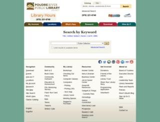 catalog.poudrelibraries.org screenshot