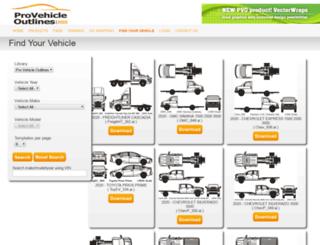 catalog.provehicleoutlines.com screenshot