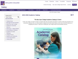 catalog.sanjuancollege.edu screenshot