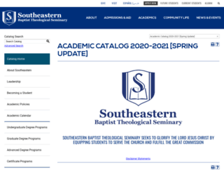 catalog.sebts.edu screenshot