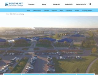 catalog.southeasttech.edu screenshot