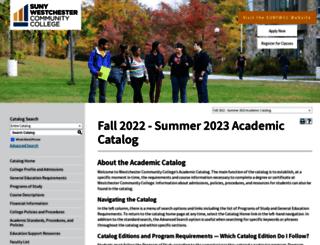 catalog.sunywcc.edu screenshot